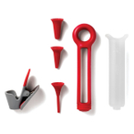 Chef'n Pastry Pen Cherry and Meringue Cupcake Baking and Decorating Tool Set