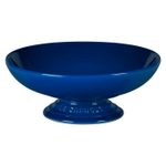 Le Creuset Marseille Blue Stoneware Footed Serving Bowl