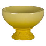 Le Creuset Soleil Yellow Stoneware Footed Ice Cream Bowl
