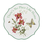 Lenox Butterfly Meadow There's No Place Like Home 6.75 Inch Trivet