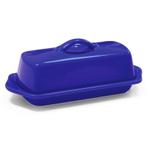 Chantal Indigo Blue Stoneware 8.5 Inch Butter Dish