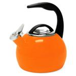 Chantal Orange Enamel On Steel 2 Quart Anniversary Teakettle
