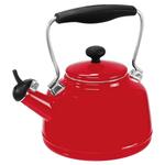 Chantal Chili Red Enamel On Steel 2 Quart Vintage Teakettle
