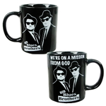 Blues Brothers Movie We're on a Mission From God Ceramic 14 Ounce Coffee Mug