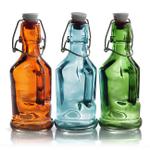 Grant Howard Aiello Assorted Color Clip Top 7 Ounce Cruet, Set of 12