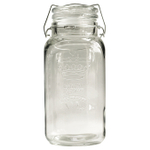 Grant Howard Wire Bail and Trigger Regal Embossed 136 Ounce Jumbo Jar