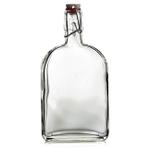 Grant Howard Glass Flask Clip Top 18 Ounce Cruet, Set of 12