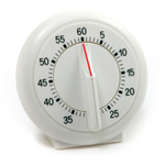 Norpro Traditional White 60 Minute Dial Timer