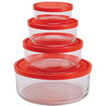 Bormioli Rocco Gelo 4 Piece Glass Storage Bowl Set