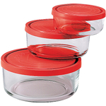 Bormioli Rocco Gelo 3 Piece Glass Storage Bowl Set