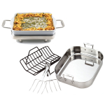 All-Clad Thanksgiving in a Box Porcelain and Stainless Steel Roasting and Baking Set
