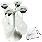 Architec Air Dry Polished Wine Glass Drying System with Riedel Microfiber Polishing Cloth