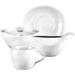 Dansk Classic Fjord 4 Piece White Porcelain Coffee Set