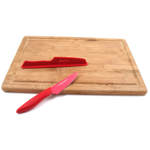 Tru Bamboo Juice Groove Cutting Board and Half Off Tomato and Cheese Knife Kit, 18 x 12.75 Inch