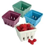 Artland Multicolored Ceramic Berry Fruit Basket, Set of 4