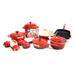 Le Creuset Signature Cherry Mixed 20 Piece Cookware Set
