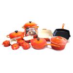 Le Creuset Signature Flame Mixed 20 Piece Cookware Set