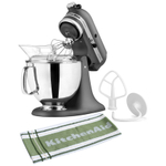 KitchenAid Artisan Series Imperial Grey Stand Mixer with Free Kitchen Towel