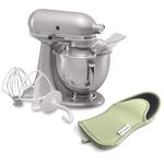 KitchenAid Artisan Series Metallic Chrome Stand Mixer with Free Oven Mitt