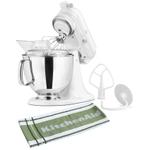 KitchenAid Artisan Series White on White Stand Mixer with Free Kitchen Towel