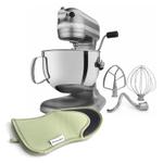 KitchenAid Professional 600 Series Nickel Pearl Bowl Lift Stand Mixer with Free Oven Mitt, 6 Quart