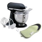 KitchenAid Artisan Series Imperial Black Stand Mixer with Free Oven Mitt
