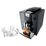 Jura Piano Black Impressa F8 TFT Combination Espresso Machine with 6 Bodum Canteen Double Wall Espresso Glasses