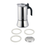 Bialetti Venus Stainless Steel 6 Cup Stove-top Espresso Maker with Replacement Filter and Gaskets
