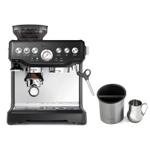 Breville Barista Express Black Sesame Espresso Machine with Knock Box and 19 Ounce Milk Steamer Jug
