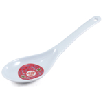 Longevity Melamine Asian Rice Paddle Serving Spoon Red