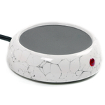 Norpro White and Gray Decorative Cup Warmer