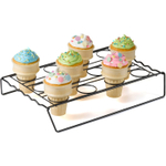 Nifty Home Products Black Ice Cream Cone Cupcake Baking Rack