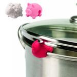 Tovolo Farm Animals Silicone Pot Lid Lift, Set of 3