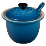 Le Creuset Marseille Blue Stoneware 4 Ounce Condiment Pot