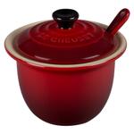 Le Creuset Cherry Stoneware 4 Ounce Condiment Pot