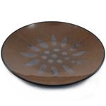 Ambiance Sunburst Brown Ceramic Salad Plate, Set of 4
