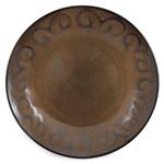 Ambiance Sunburst Brown Ceramic Dinner Plate, Set of 4
