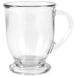Anchor Hocking Clear Glass Cafe Mug, Set of 6