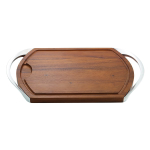 Nambe Alloy and Wood Carve & Serve Station