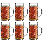 Stolzle Oktoberfest 17.5 Ounce Glass Beer Mug, Set of 6