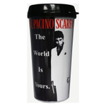 Universal Studios Scarface Movie Theme The World Is Yours 16 Ounce Travel Mug