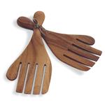 Ironwood Gourmet Acacia Wood Salad Hands 2 Piece Utensil Set