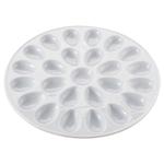 HIC Harold Import Co White Porcelain 24 Hole Deviled Egg Dish