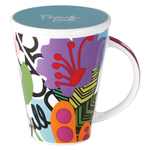 French Bull V Oasis Porcelain 16 Ounce Tea and Coffee Mug with Lid