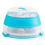 Progressive Teal Collapsible Cupcake and Cake Carrier
