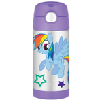 Thermos Funtainer My Little Pony TV Show Stainless Steel Vacuum Insulated 12 Ounce Water Bottle