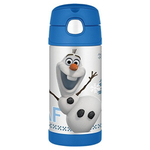 Thermos Funtainer Frozen Movie Olaf Character Stainless Steel Vacuum Insulated 12 Ounce Water Bottle