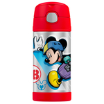 Thermos Funtainer Mickey Mouse Clubhouse TV Show Stainless Steel Vacuum Insulated 12 Ounce Water Bottle