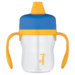 Thermos Foogo Blue with Yellow Accents Eastman Tritan Soft Spout 8 Ounce Sippy Cup with Handles