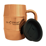 Eco Vessel Double Barrel Stainless Steel Copper Moscow Mule Insulated 16 Ounce Mug